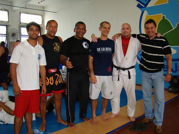 Bruno (professor de Educação Física da Ansef), Baioneta, Daniel D'Dane, De La Riva, Marinho, Ricardo Mello (Presidente da Ansef).