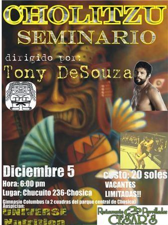 Tony de Souza seminar Saturday