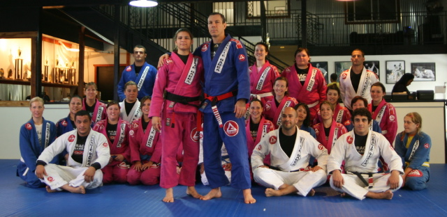 Ana Laura with Master Carlos Gracie Jr after receiving her black belt