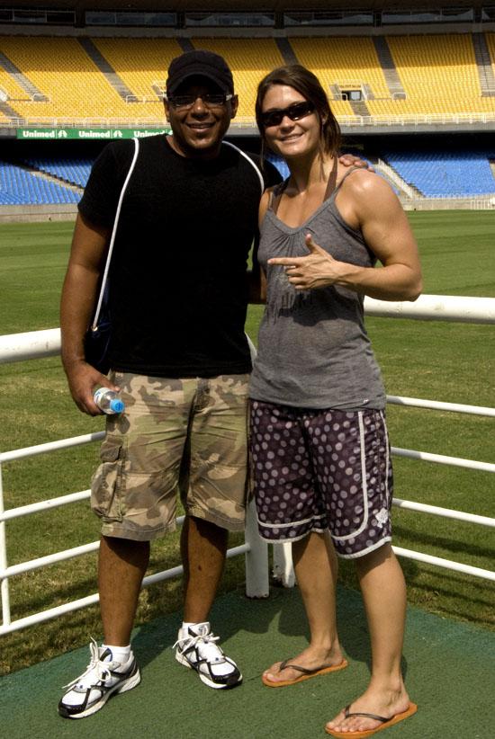Megan Tracy e Dion Brown. Foto Gabriel Menezes