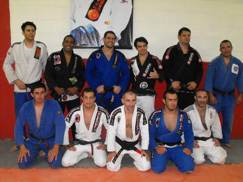 Daniel (in blue, standing) is back in São Paulo.