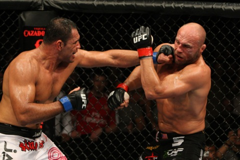 Nogueira against Couture. Photo: Josh Hedges.