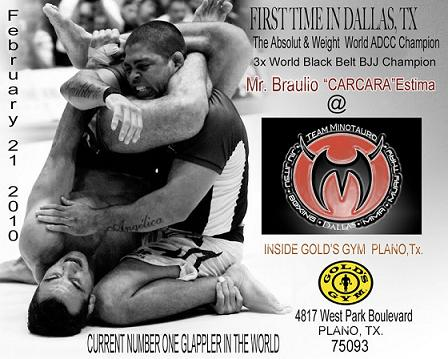 Bráulio with and without gi at Team Minotauro Dallas