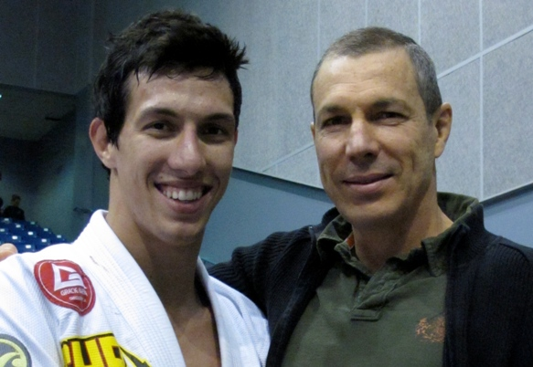Middleweight champion with proud father, Master Carlos Gracie Jr. Photo: Deb Blythe