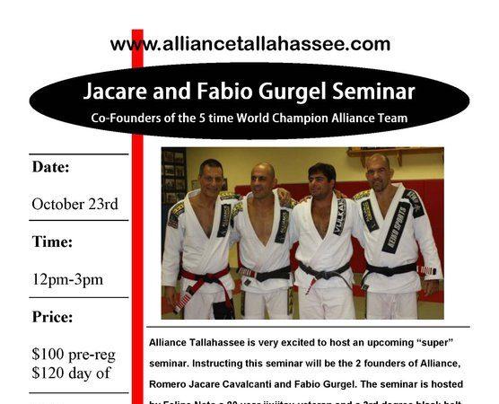 Gurgel, Jacare seminar in Tallahassee