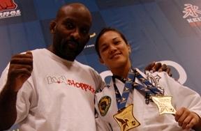 Purple belt pride of Team Lloyd Irvin