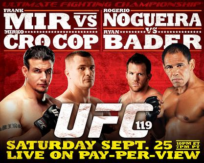 UFC 119: Mir knocks out Cro Cop; Bader beats Minotouro