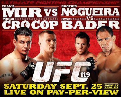 UFC 119: Mir knocks out Cro Cop; Bader beats Minotouro