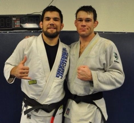 Forrest Griffin promoted to black belt by Drysdale