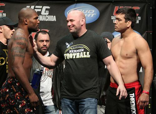 Heated UFC 123 weight-in