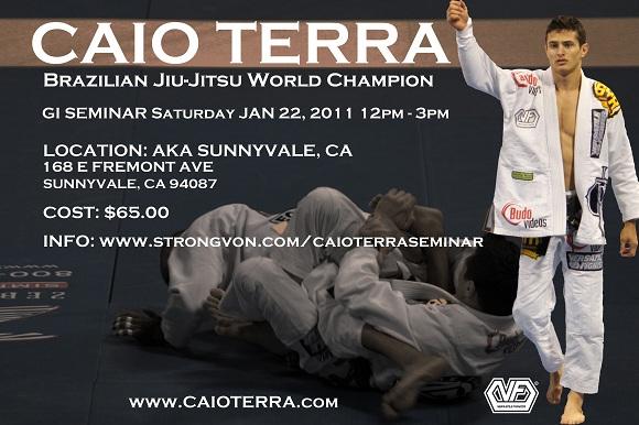 Learn tricks of the trade at Caio Terra seminar tomorrow