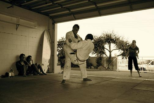 "Kron Gracie practices ""Home-Jitsu"" too"