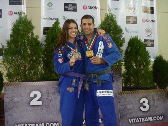 Mackenzie Dern e Augusto Mendes. Foto: Acervo Pessoal.