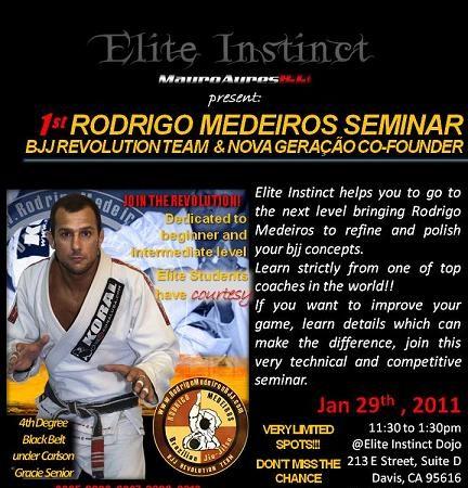 Rodrigo Medeiros to hold beginners seminar in California