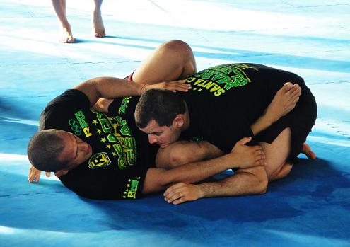 Marcos Oliveira in Thailand brushing up for ADFC, but Jiu-Jitsu still on the program