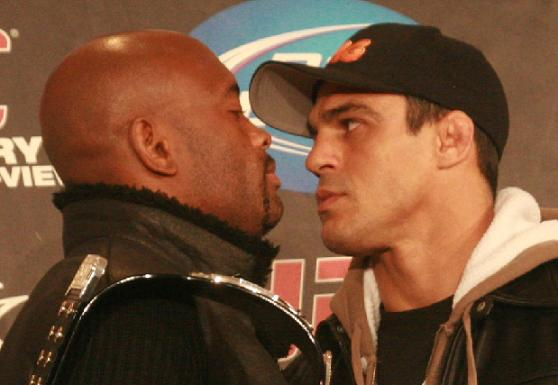UFC 126: the staredown that leaves it all up in the air