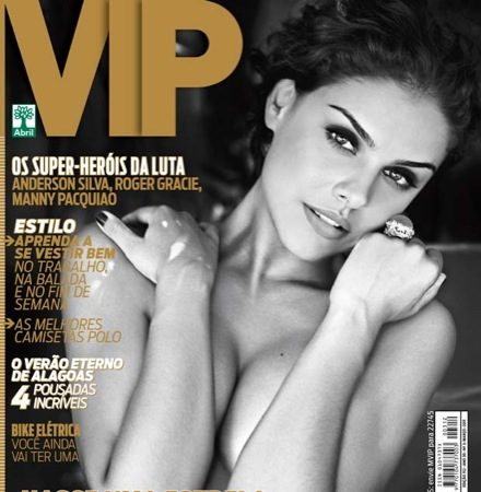 "Roger Gracie and Anderson are superheroes in Brazil's ""Vip"" magazine"