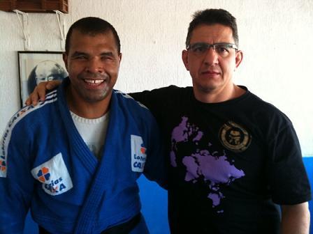 Four-time Paralympic judo champion Tenório works on Jiu-Jitsu