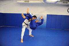 Getting the takedown and landing on the side