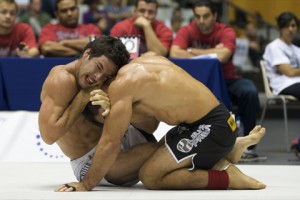 Gregor with a neck in his sights at ADCC 2009. Photo: John Lamonica