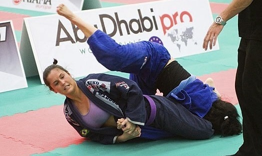In the area surrounding London, a purple belt snags an arm at the World Pro tryouts. Publicity photo shot by James Oluoch-Oluny