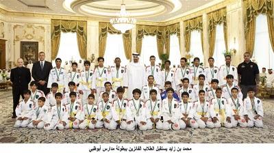 Prince of Abu Dhabi receives champions and exalts Jiu-Jitsu