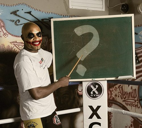 From the treasure chest: Why so serious? That's what Anderson Silva's asking