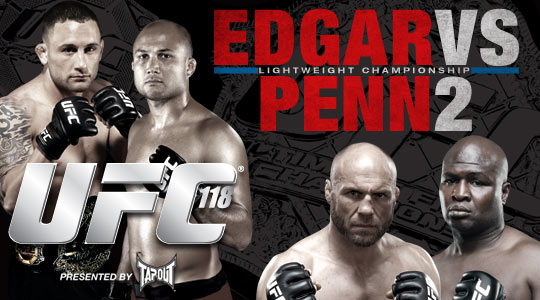 UFC 118: Edgar retains title; Couture and Demian win, too