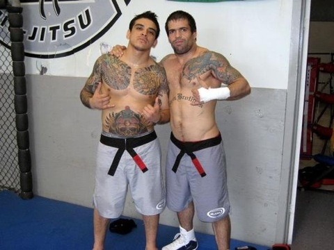 Crispin (on the right) with teammate Sapo