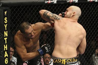 Minotouro in his UFC debut. Photo: Josh Hedges