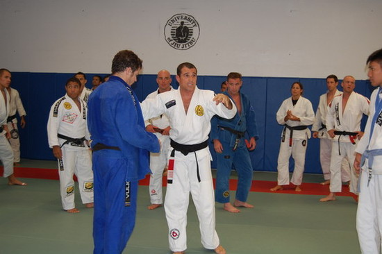 Royler teaches and hands out promotions at University of Jiu-Jitsu