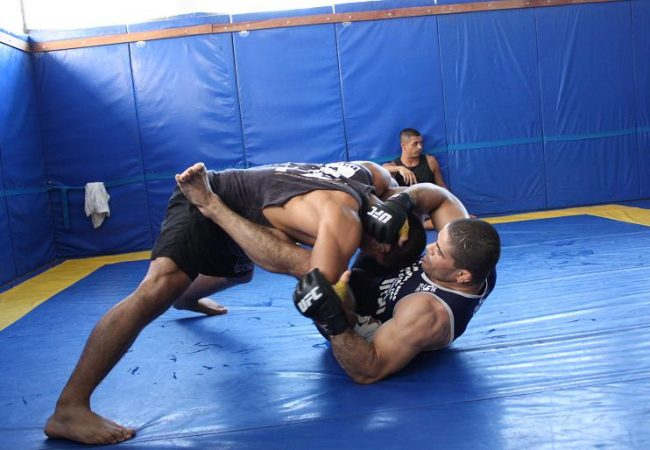 Images of Palhares training for Marquardt