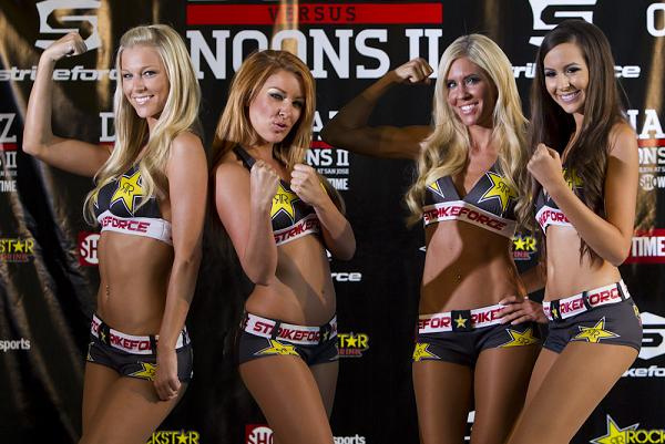 Beauty and staredowns at Strikeforce weight-in