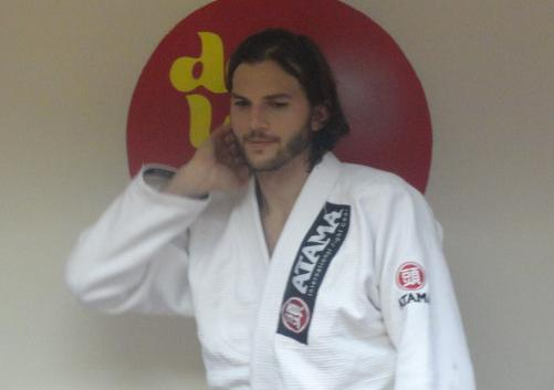 Movie star Ashton Kutcher training Jiu-Jitsu in Rio