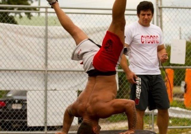 Cyborg's insane pre-Worlds workout