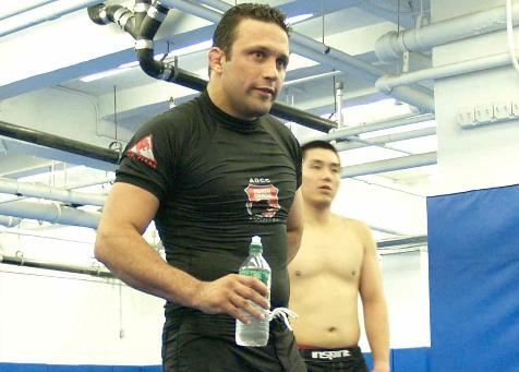 Renzo Gracie heads Rashad Evanss training. Photo: GRACIEMAG archives