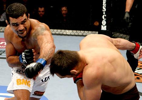 On his return to the UFC, Belfort knocked out Rich Franklin. Photo: Josh Hedges