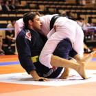 Bochecha demonstrates one of his trumps from butterfly-guard