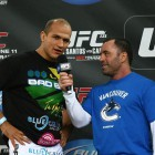 Cigano and Cain's meeting in the cage