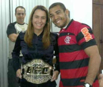 Tribute to José Aldo at Flamengo club