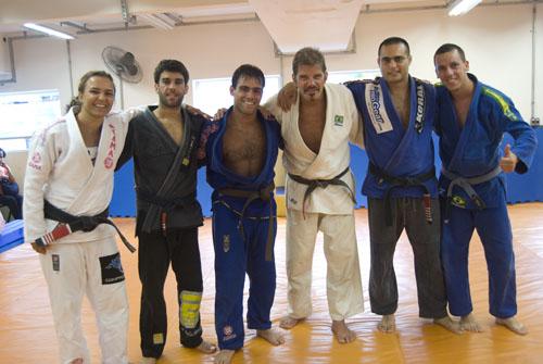 Michelle Matta, Felipe Costa, João Marcelo, Raul Gazolla and Muzio.