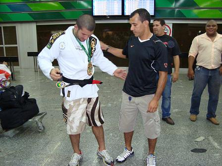 He got his belt at the airport. What about you?
