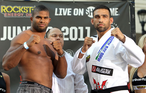 Watch the highlights from Werdum-vs.-Overeem weigh-ins