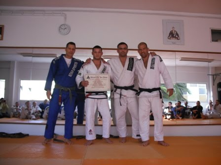 Dimopoulos becomes black belt