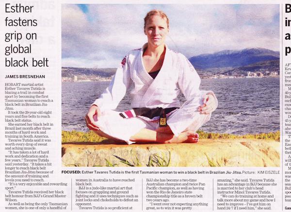 First ever female black belt in Tasmania