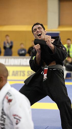 Braulio Estima vibra no seu último Europeu de Jiu-Jitsu. Foto: Ivan Trindade