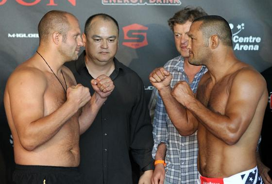 Mad-dog stares and beauty at Fedor vs. Henderson weight-in