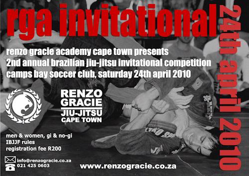 Renzo Gracie invites you to Cape Town