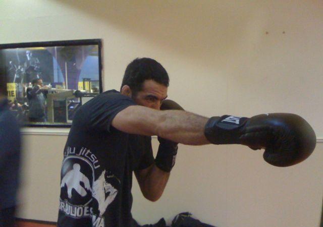 Braulio Estima is punching