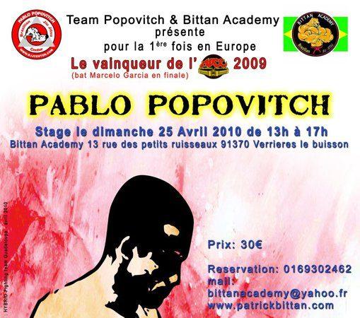 Popovitch seminar in France